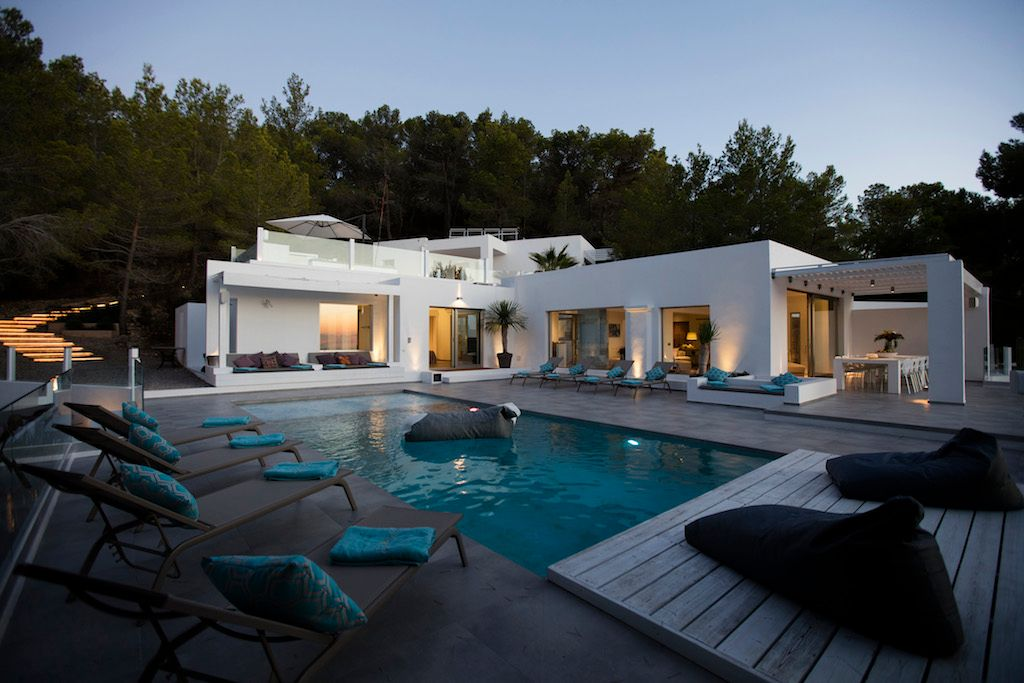 Luxury villa near Cala Tarida, 5 bedroom luxury villa in Ibiza, villa rental in Ibiza,  luxury villa Ibiza,